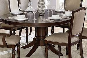 Marston, Brown, Pedestal, Oval, Extendable, Dining, Table, From, Homelegance