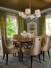 Transitional Dining Room Blue