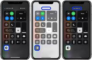 How To Add Dark Mode Shortcut On Iphone In Ios 13