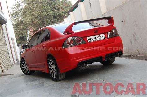 Civic Modifications India by Honda Civic With Performance Styling Mods Performance