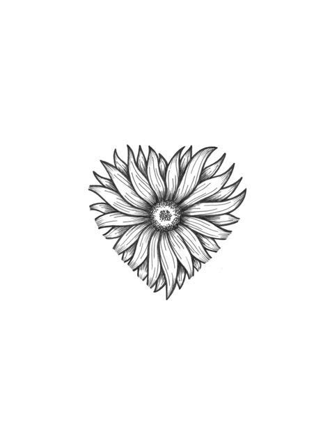 sunflower heart sunflower tattoos sunflower tattoo