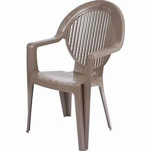 Fauteuil En Resine : fauteuil de jardin en r sine fidji taupe leroy merlin ~ Teatrodelosmanantiales.com Idées de Décoration