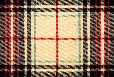 Fabric Tartan Plaid Pattern As Background Stock