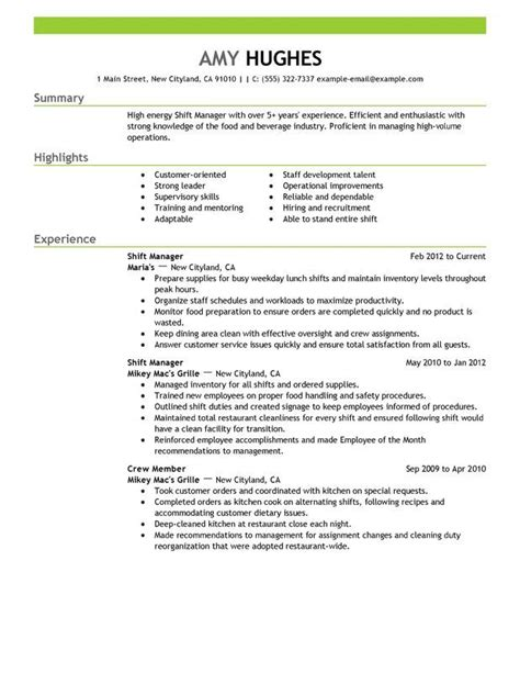 Resume For Assistant Restaurant Manager by Assistant Restaurant Manager Resume Http Topresume