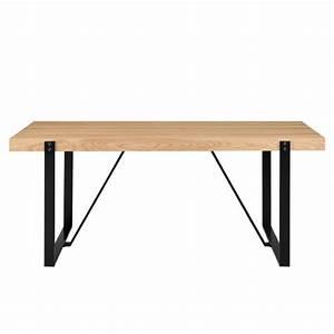 Table Bois Et Fer : table design 180 x 100 cm fer et bois pour tables a 508 23 ~ Teatrodelosmanantiales.com Idées de Décoration