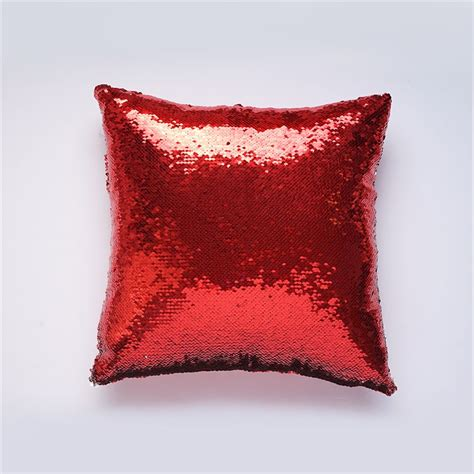 stock mermaid pillow cover redsilver change color