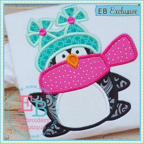 Penguin Applique Winter Penguin Applique Embroidery Boutique Embroidery