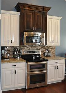 kitchen cabinets off white with black 1231