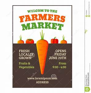 Farmers market poster stock vector. Illustration of ...