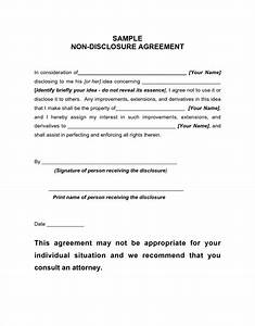 Non disclosure agreement example confidentiality for Nda template word document