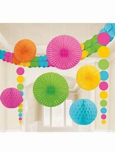 Deco Multicolore : kit de d coration de salle multicolore d coration anniversaire et f tes th me sur vegaoo party ~ Nature-et-papiers.com Idées de Décoration