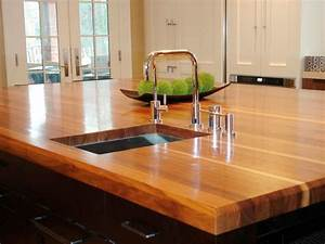 Butcher block and wood countertops hgtv for Wood kitchen countertops