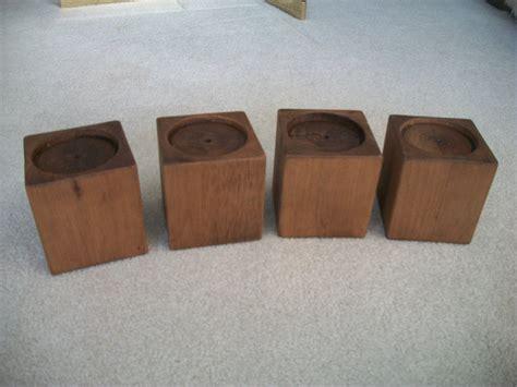 set alder wood bed risers furniture blocks leg