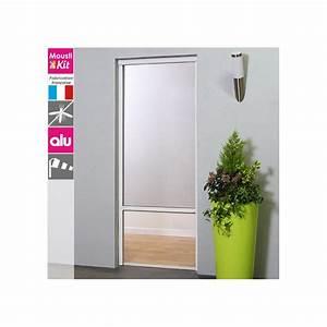 Store moustiquaire recoupable moustikit en aluminium pour for Moustiquaire enroulable porte fenetre