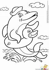 Dolphin Coloring Pages Printable Adult Dolphins Animal Results Dophin sketch template
