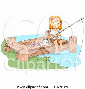 Girl Fishing Clipart - Clipart Kid