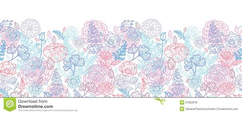 morning colors morning colors floral horizontal seamless pattern stock