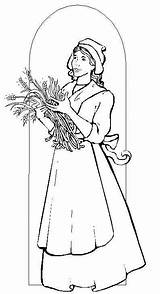 Coloring Pages Pilgrim Woman Thanksgiving Were Colouring Brave Pilgrims Wearing Clothes Colors Know Very 321coloringpages sketch template