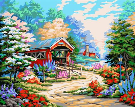 aliexpress buy diy painting by numbers landscape