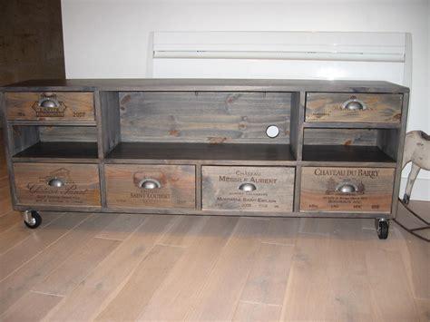 charmant meubles industriels pas cher avec best meuble de tele ideas collection des photos