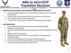 USAF OCP Transition Update - Soldier Systems Daily
