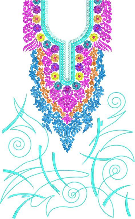 embdesigntube gujarati neck embroidery designs  kameez