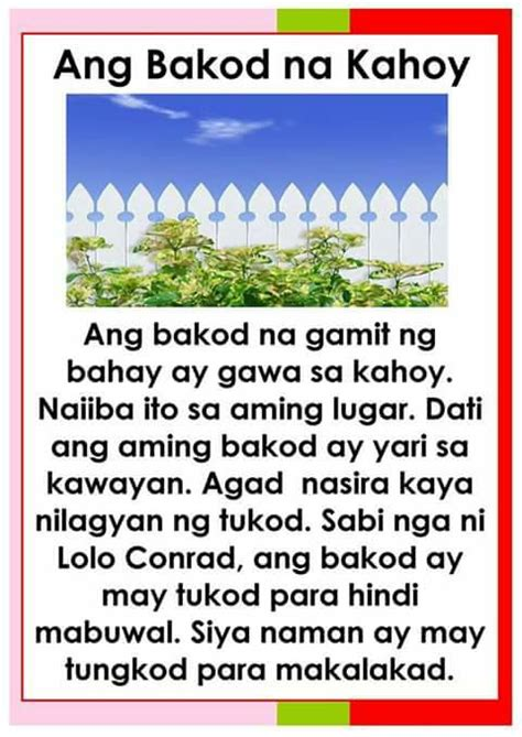 learn  kindergarten reading worksheets tagalog