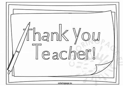 Teacher Thank Appreciation Coloring Pages Printable Cards