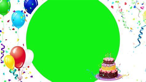happy birthday background magic green screen youtube
