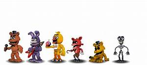 Fnaf 1 Characters Canon by aidenmoonstudios on DeviantArt