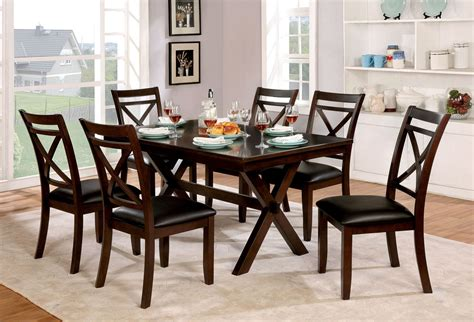 Furniture Of America Jolie Dark Cherry Dining Room Set