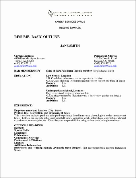 Resume Outline Word by 8 Simple Outline Template Sletemplatess