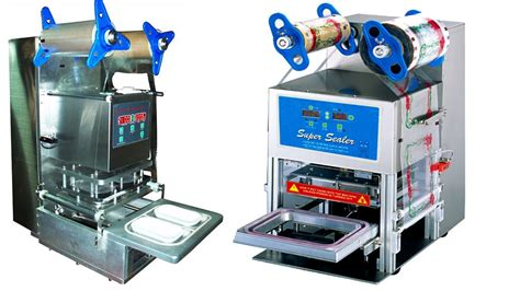 electric tray sealing machine box sealer equip cornstrach cups sealer food container mrbaa khtm