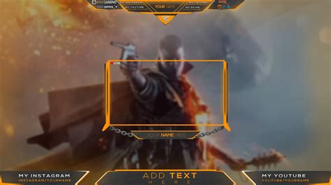 twitch template 1080p twitch overlay banner template livestream free psd 2018