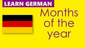 Learn German - Months Of The Year