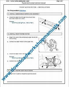 Toyota Land Cruiser Workshop Service Repair Manual Download