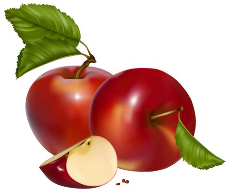 Red Apples PNG Clipart - Best WEB Clipart