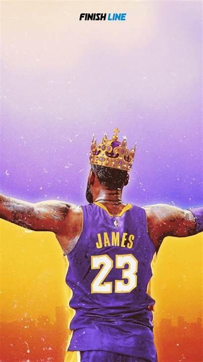 Lebron Lakers James Crown Iphone Nba Canvas