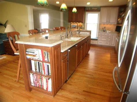 farmhouse kitchen sinks maple cherry cabinets ambrosia white granite 3708
