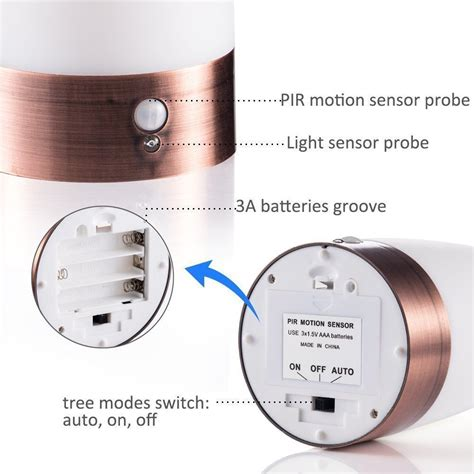 Zeefo Retro Led Night Light Wireless Pir Motion Sensor