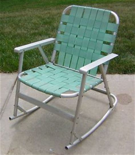 Folding Outdoor Rocking Chair Aluminum by Vintage Retro Aluminum Framed Folding Lawn Chairs Rainbow