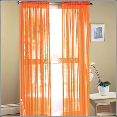 burnt orange sheer curtain scarf curtains home design