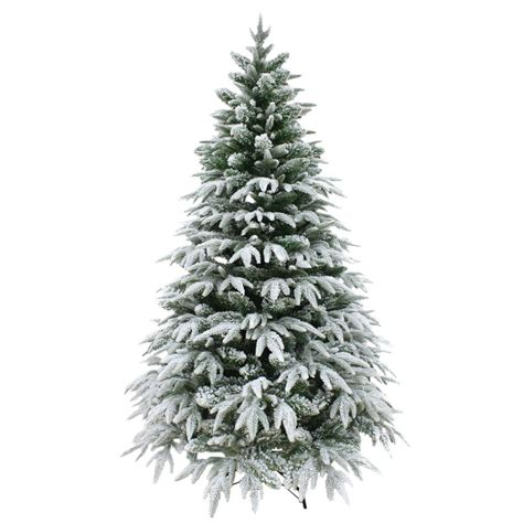 luxury snow tipped christmas tree artificial pine indoor