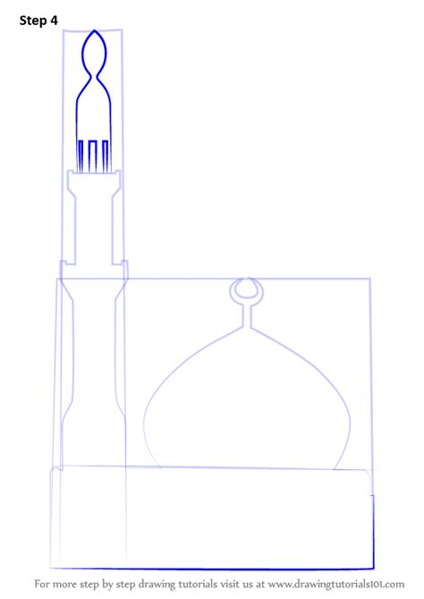 learn   draw  simple mosque islam step  step