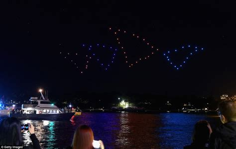drone lights at night 39 dancing 39 drones lit up the sky to beethoven 39 s fifth