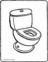 Toilet Coloring Drawing Colouring Pages Printable Kiddicolour Getdrawings Getcolorings sketch template