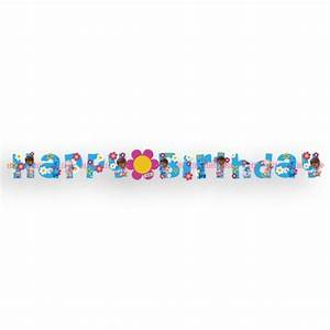 Doc McStuffins Add An Age Happy Birthday Letter Banner