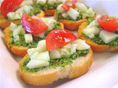 bread canape recipes cilantro canapes recipe food com