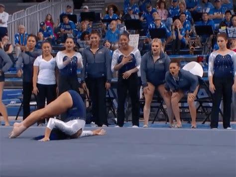 hip hop gymnastics floor routine ucla gymnast wins with hip hop floor routine