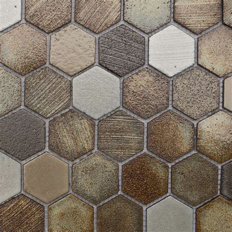 lava tanzania hexagon mosaic wall tiles marshalls